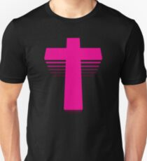 80s Style Techno Cross  Unisex T-Shirt