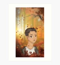 Fall- Otabek Altin (Yuuri!!! on Ice) Fan Art Art Print