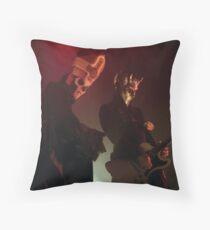 Papa Emeritus III and Alpha Ghoul- live photo Throw Pillow