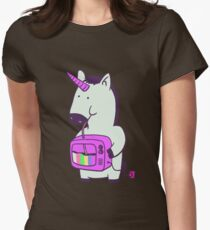 be like unicorn Womens Fitted T-Shirt