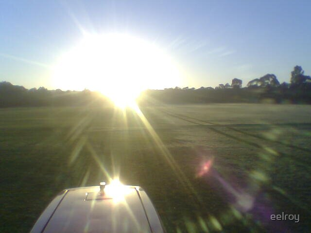 driving my tractor into the sun by eelroy