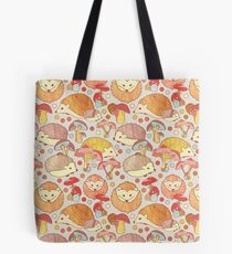 Woodland Hedgehogs - a pattern in soft neutrals  Tote Bag
