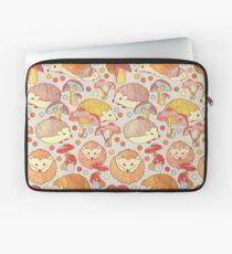 Woodland Hedgehogs - a pattern in soft neutrals  Laptop Sleeve