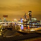 London and the Thames at Night by Mark Baldwyn