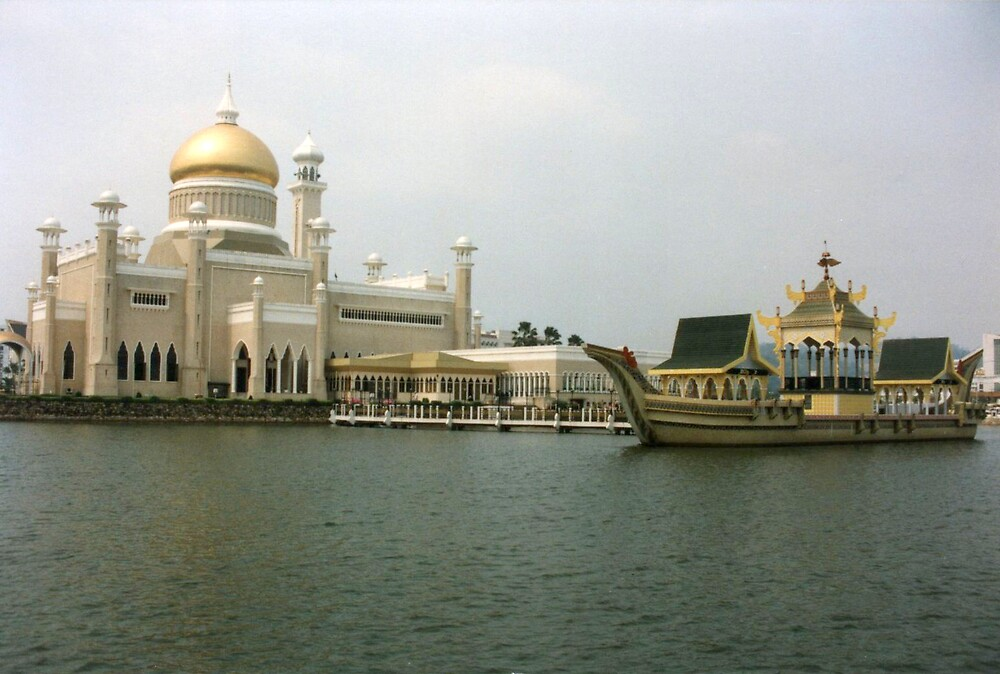 Muslim architecture, Brunei, Borneo  by jensNP