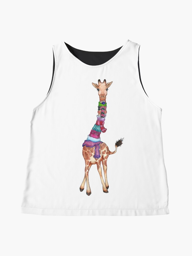 Alternate view of Cold Outside - Cute Giraffe Illustration Sleeveless Top