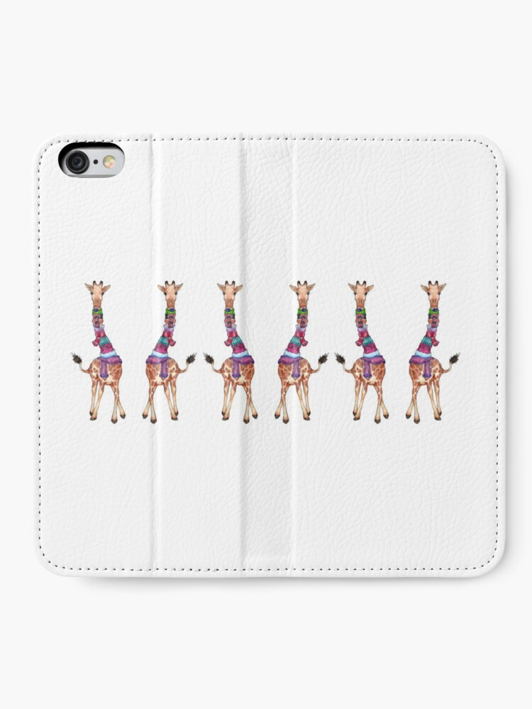 Alternate view of Cold Outside - Cute Giraffe Illustration iPhone Wallet