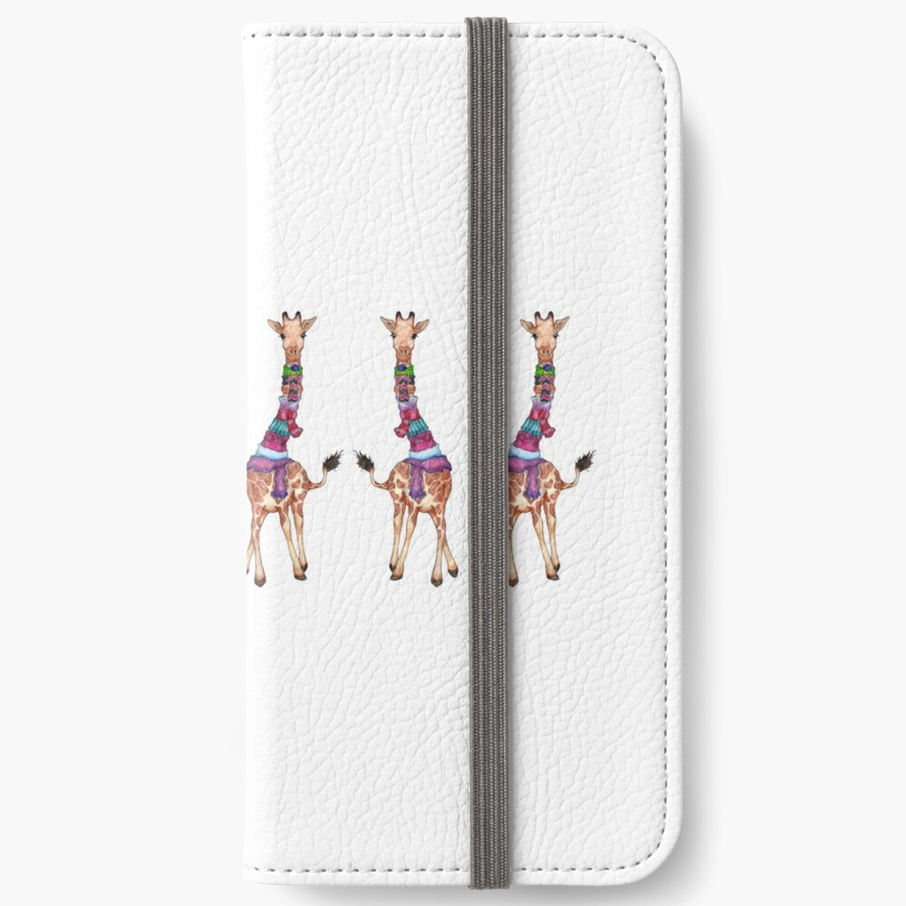 Cold Outside - Cute Giraffe Illustration iPhone Wallet