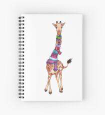 Cuaderno de espiral Exterior frío - Ilustración linda jirafa