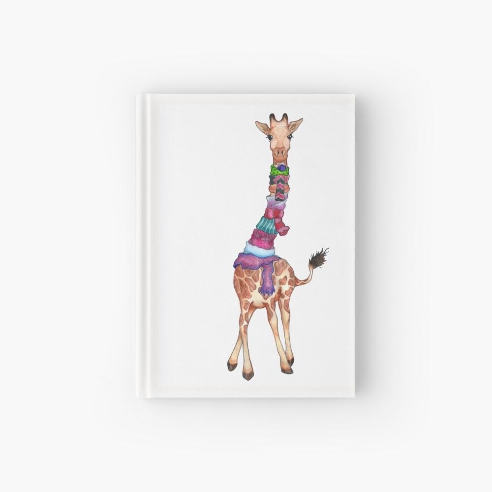 Cold Outside - Cute Giraffe Illustration Hardcover Journal