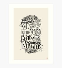 For hours we rambled about together Art Print