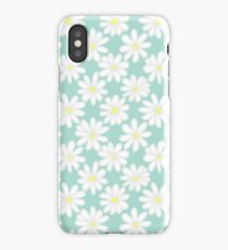 Bright Happy Daisies on Mint iPhone Case