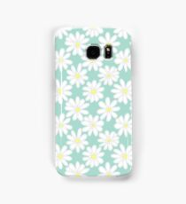 Bright Happy Daisies on Mint Samsung Galaxy Case/Skin
