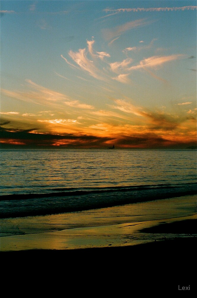 Cloud Wisps at Sunset by Lexi