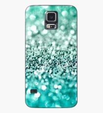 Aqua Glitter Case/Skin for Samsung Galaxy