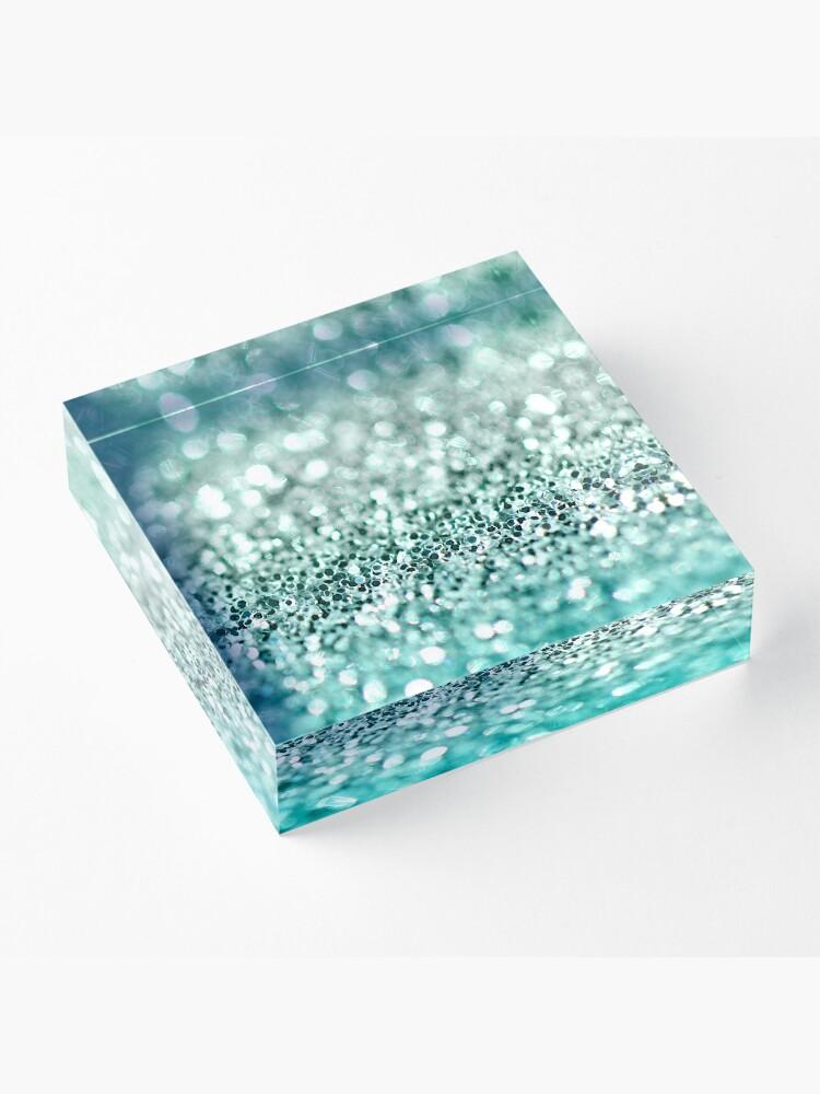 Vista alternativa de Bloque acrílico Aqua Glitter