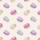 «Patrón de macaron francés - frambuesa, pistacho, limón y arándano» de Perrin Le Feuvre