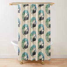 Panda-Liebe Duschvorhang