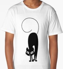 Black Cat Long T-Shirt