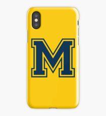 M Blue iPhone Case