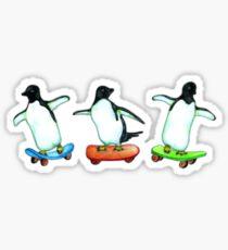 Happy Wheels - Penguins on Skate Boards Sticker