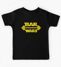 BAR WARS - Yellow/Dark Parody Design for Weight Lifters Kids Clothes