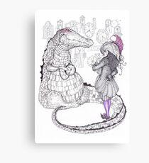 Captain Hook and the Crocodile Canvas Print