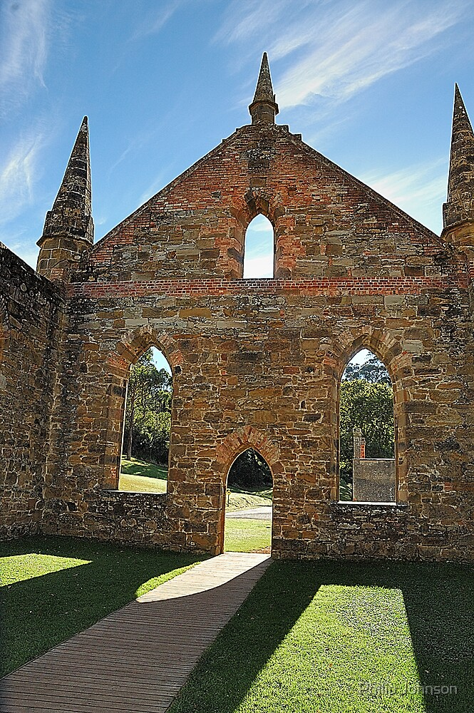 Convict Prayers - Port Arthur Historic Site, Tasmania Australia by Philip Johnson