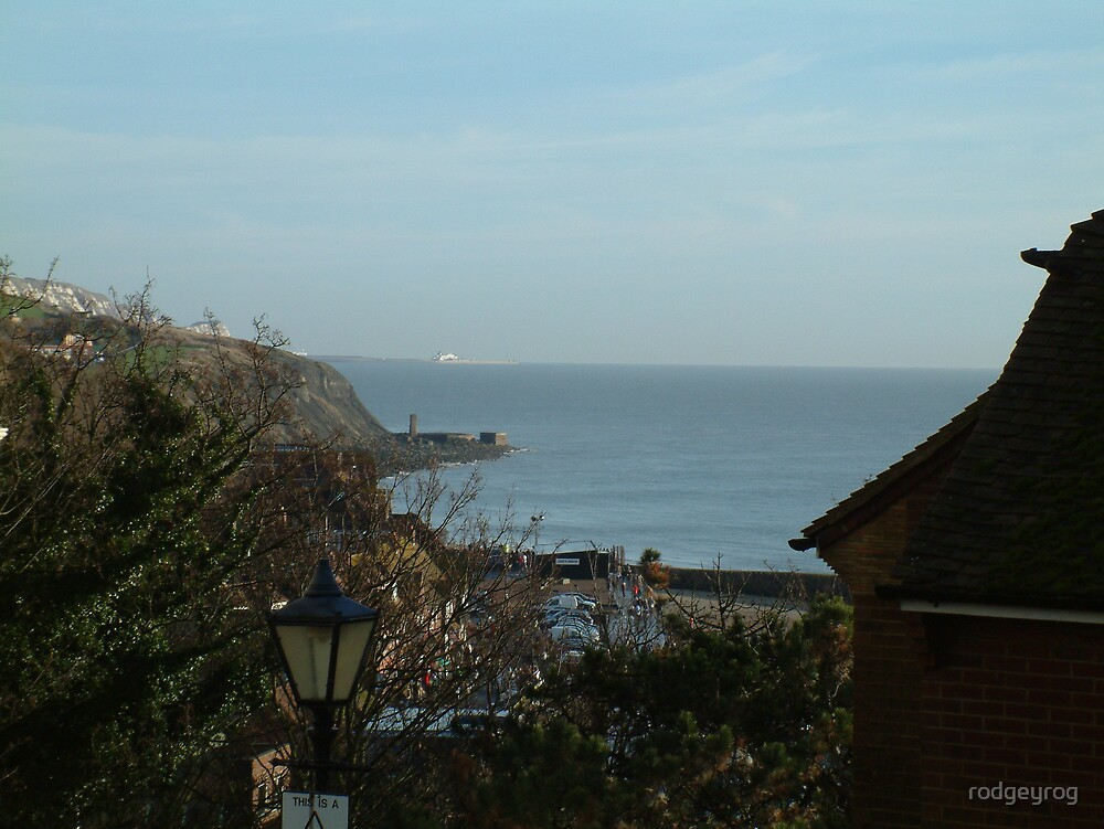 Overlooking Folkestone Harbour by rodgeyrog