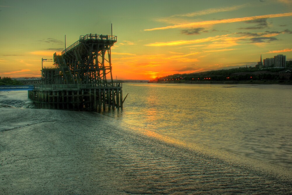 Staiths at sunset by Richard Shepherd