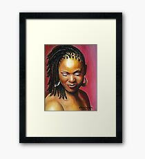 Lady with braids Framed Print