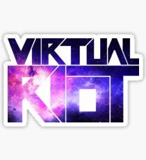 Virtual Riot Logo Space Sticker