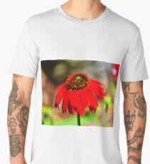 Salsa Red Coneflower Men's Premium T-Shirt
