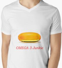 Omega 3 Junkie Men's V-Neck T-Shirt