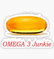 Omega 3 Junkie Sticker