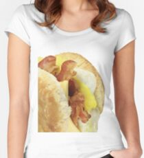 Bacon egg and cheese biscuit Women's Fitted Scoop T-Shirt