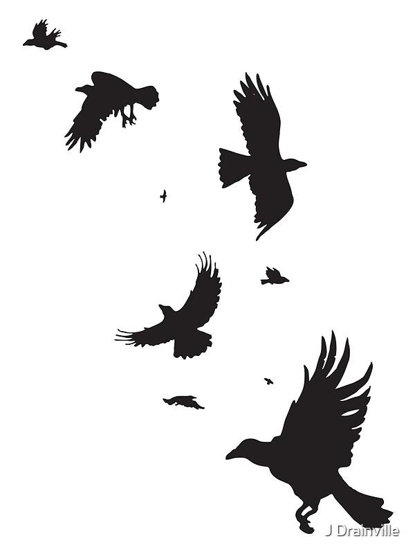 Quot A Murder Of Crows Quot Art Prints By Jacquelyne Drainville
