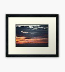Dramatic red sunset  Framed Print