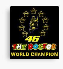 Nine World Champion Valentino Rossi Canvas Print