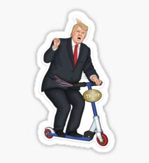 Trump Scooter  Sticker