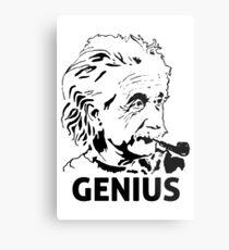 Einstein Genius Metal Print