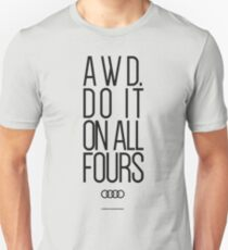 AWD. Do It On All Fours Slim Fit T-Shirt