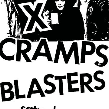 the Blasters Cramps X show flyer t shirt by vanitees5211