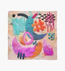 abstract embroidery Scarf