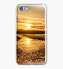 At The Rivers Edge Painting iPhone Case/Skin
