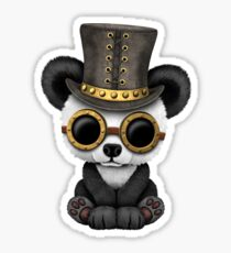 Steampunk Baby Panda Bear Cub Sticker