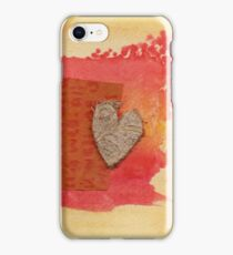 Woven Amber Heart iPhone Case/Skin