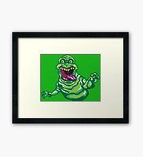 Ghostbusters Slimer Pixel Art Framed Print