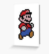 Super Mario Pixel 3D Greeting Card