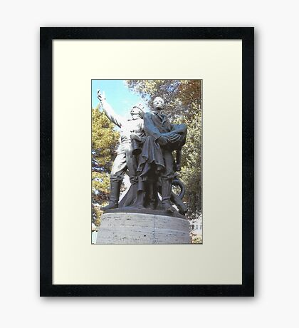 FireFighter's Statue In North Beach,S.F Framed Print